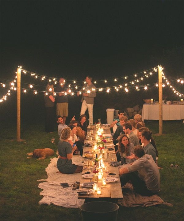 Great Idea for a garden party. Why not go for the environmentally friendlier solar powered Moroccan Lantern Light String to give you that stunning look for your garden. http://www.home-outlet.co.uk/smart-solar-moroccan-lantern-light-string/