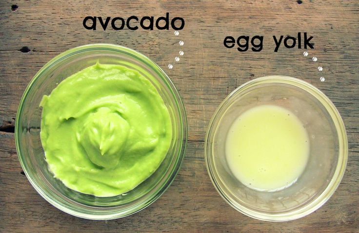 Avocado Egg Yolk Hair Mask for Volume, Growth & Conditioning