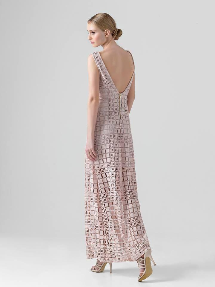 Romantic pink nude dress! Shop now: www.yazz.gr