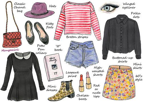 How to dress like Alexa Chung | Hand drawn illustrated how-t… | Flickr
