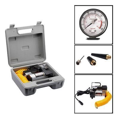 Small 12 Volt Electric Air Compressor Pump For Car Tires Mattress Airbed Bikes