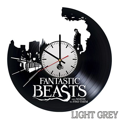 Fantastic Beasts and Where to Find Them Vinyl Record Wall Clock - Get unique room wall decor - Gift ideas for his and her - Fantasy Film Unique Art - Leave us a feedback and win your custom clock