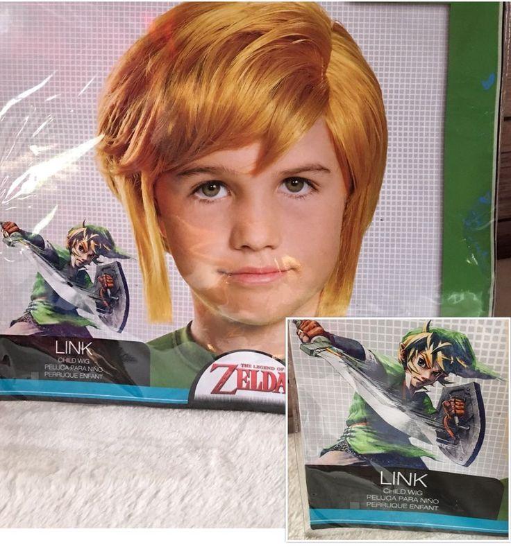 The Legend of Zelda Link Children's Wig New Cosplay Comic Con World Of Nintendo  | eBay