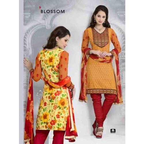 YELLOW COTTON CHURIDAR SUIT Price - £34.00 #IndianDressesUK #FashionUK #DesignerDressesUK #CollectionOfUK #ShopkundUK
