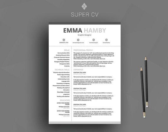 Viac ako 25 najlepších nápadov na Pintereste na tému Best cv - designer resume template