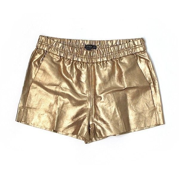 J. Crew Shorts ($19) ❤ liked on Polyvore featuring shorts, gold, j. crew shorts and gold shorts