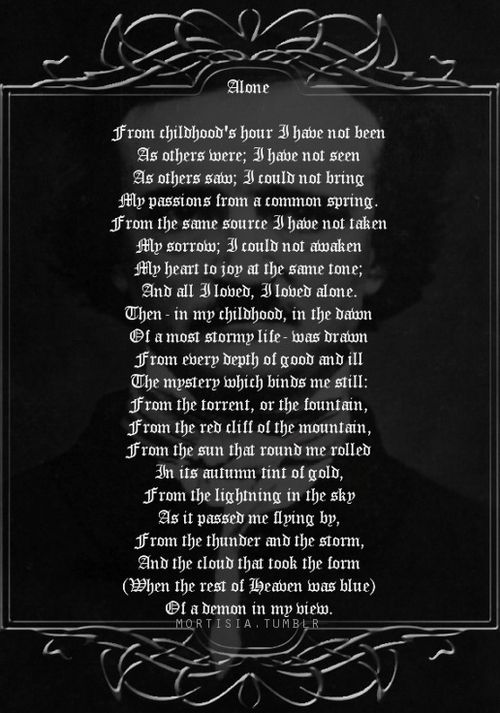 the early years in poetry of edgar allan poe The descent into the sea is portrayed as a descent into hell the city in the sea is  considered one of the best poems from poe's early years.