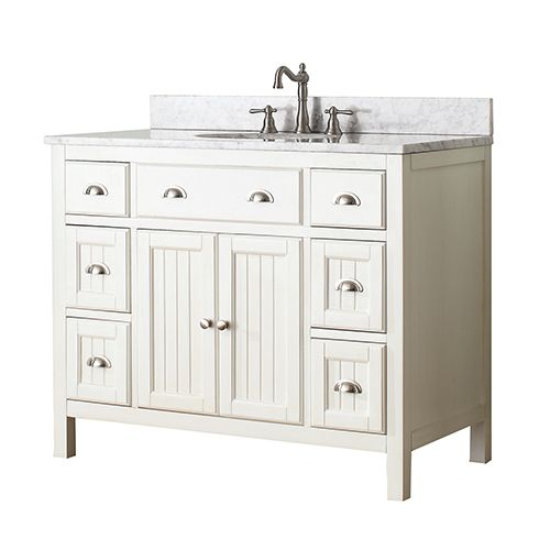 Hamilton French White 42 Inch Vanity Only Vanities Bathroom Vanities Bathroom Furniture