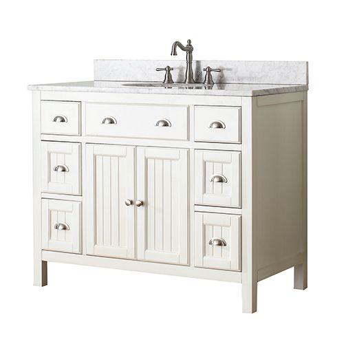 Hamilton French White 42 Inch Vanity Only Vanities Bathroom Vanities Bathroom Furniture