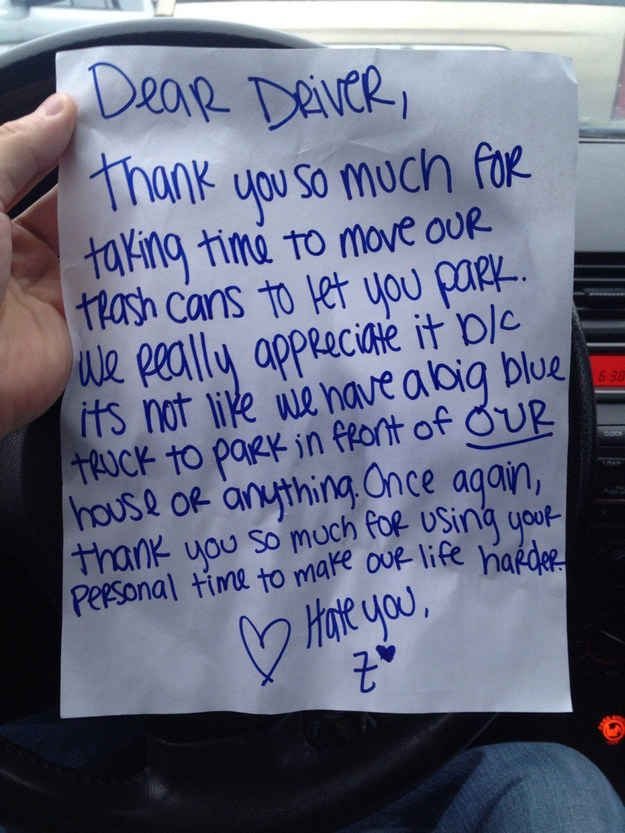 Best Windshield Notes Images On Pinterest Notes Hilarious - 29 hilarious passive aggressive notes to bad parkers 4 killed me