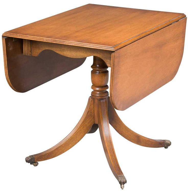 Antique Drop Leaf Pedestal Table Woodworking Projects
