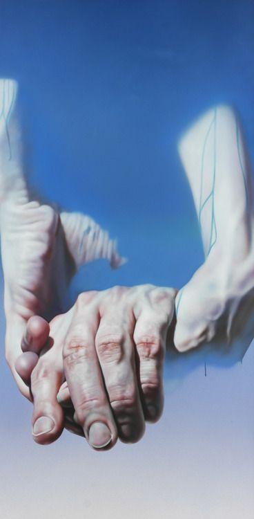 Istvan (Etienne) Sandorfi (Hungary, 1948-2007) - Mãos, 1976                                   Paintings: Oil on Canvas