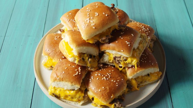 Pull-Apart Cheeseburger Sliders  - Delish.com
