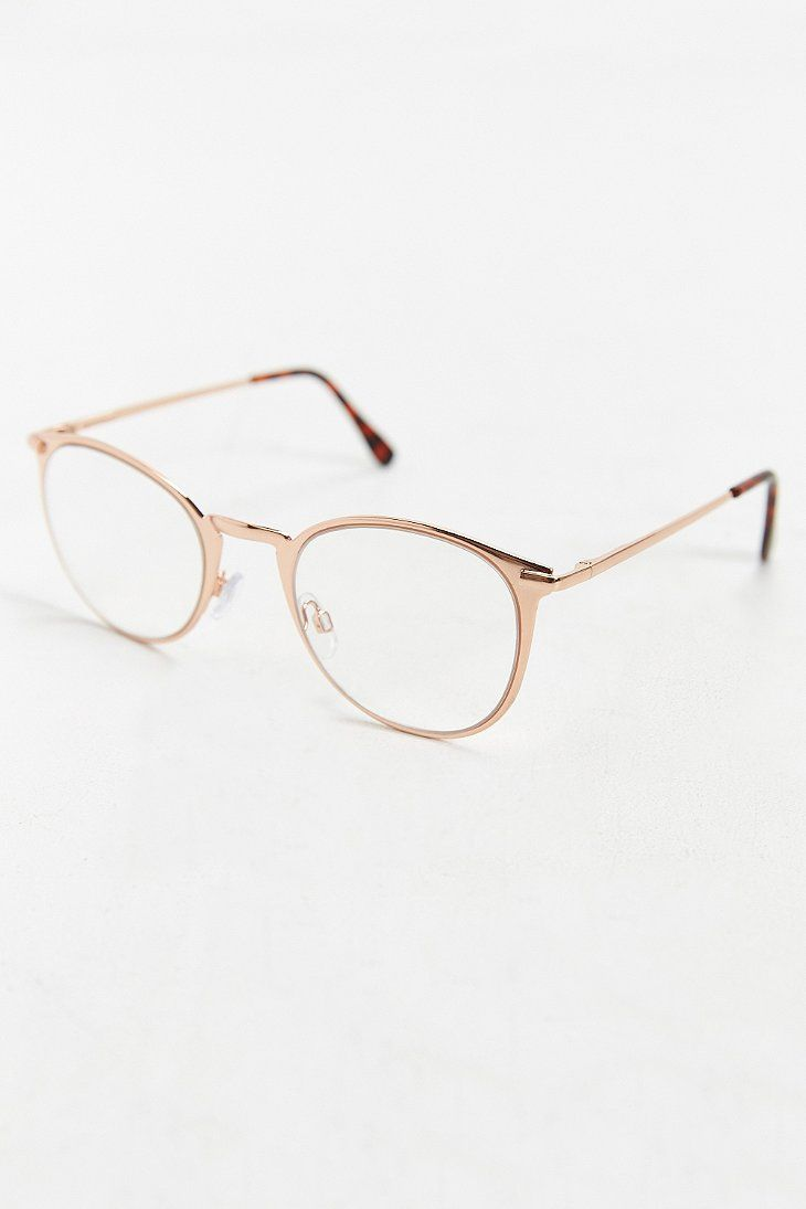 Rose Gold Round Readers - Urban Outfitters
