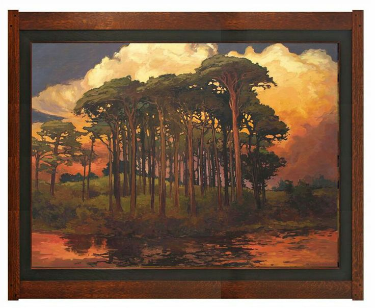 jan schmuckal pinewood bower 36 x 48 dard hunter On art and craft painting