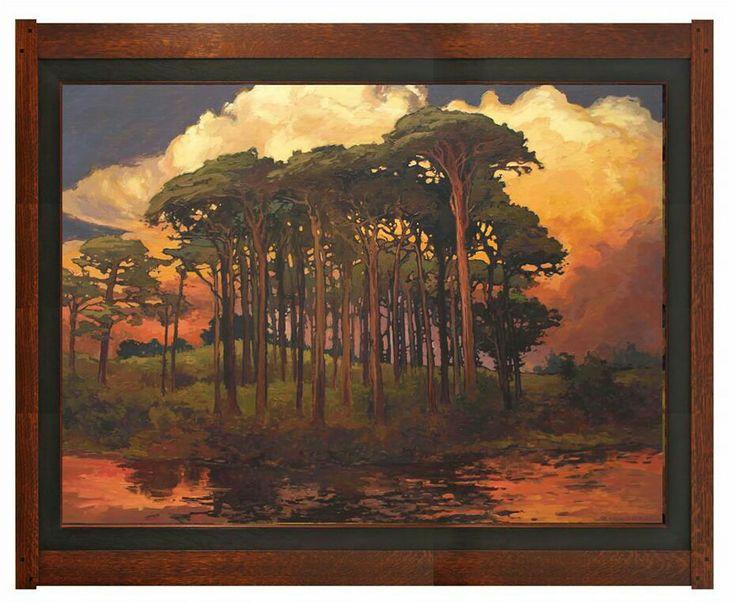 Jan schmuckal pinewood bower 36 x 48 dard hunter for Art and craft painting