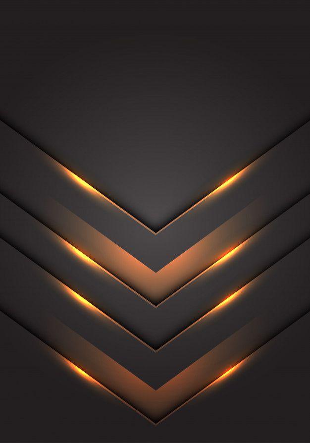 Yellow Light 3d Arrow Direction Dark Grey Blank Space Background