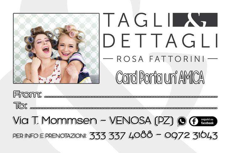 CLIENTE: Tagli&Dettagli - Rosanna Fattorini LAVORO: Grafica e Stampa Promo Card fronte