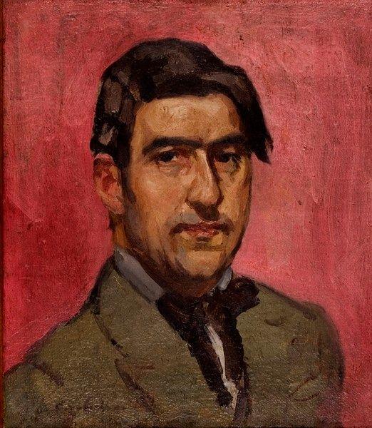 Σπύρος Παπαλουκάς (1892-1957), «Αυτοπροσωπογραφία» (1916), λάδι σε μουσαμά, 43x37 εκ., Συλλογή Σχολής Καλών Τεχνών.