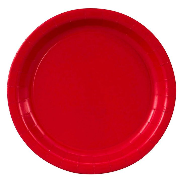 Classic Red Paper Dinner Plates - 24 count