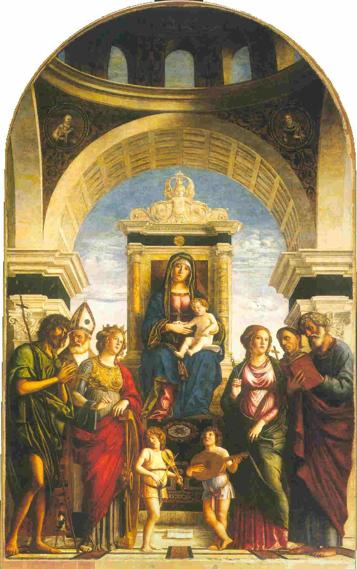 Altarpiece by G.B. Cima, 1492. Duomo di Conegliano