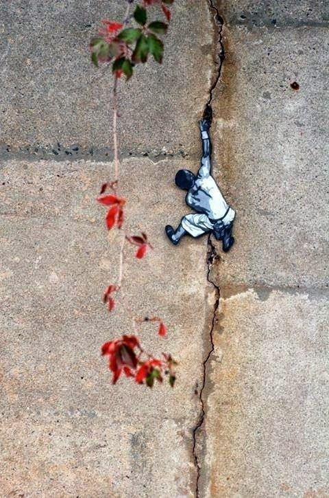 Mini street art in New Jersey, USA, by Joe Iurato
