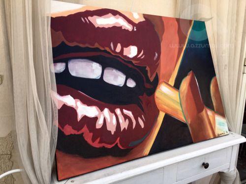 Quadro Pop Art ispirato alla locandina del film Pulp Fiction....