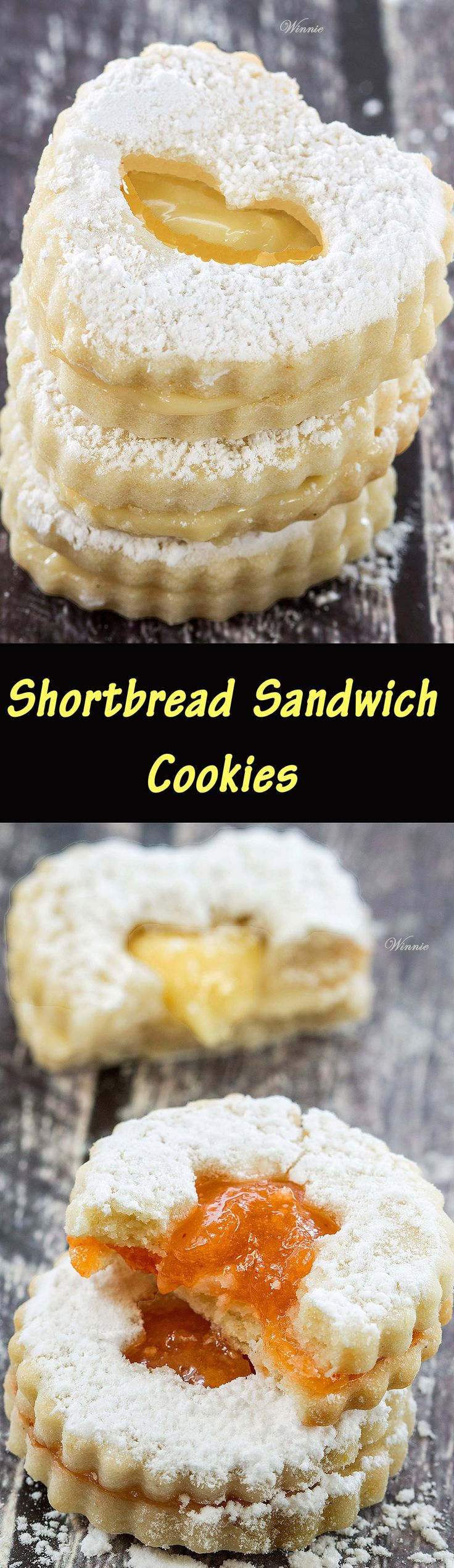 Wonderful and delicious Shortbread Sandwich cookies- made with a special no-egg dough - the best recipe for shortbread cookies ever!  http://www.winnish.net/2015/08/210/