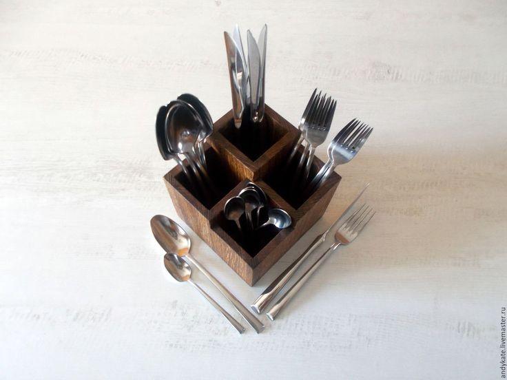 Купить Подставка-органайзер для столовых приборов из дуба - заготовки из дерева…