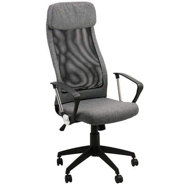 Descopera mai multe pe http://www.scauneonline.ro/scaun-birou-OFF-914 Scaun birou OFF 914 este potrivit pentru orice tip de birou, de acasa sau de la serviciu. Modelul are sezutul fabricat din stofa de culoare gri, iar spatarul din mesh negru ce ajuta la imbunatatirea circulatie aerului. Spatarul are forma ergonomica, menit sa sustina integral coloana vertebrala, iar tetiera este captusita cu burete moale. Baza in forma de stea, rolele si bratele sunt din polipropilena.