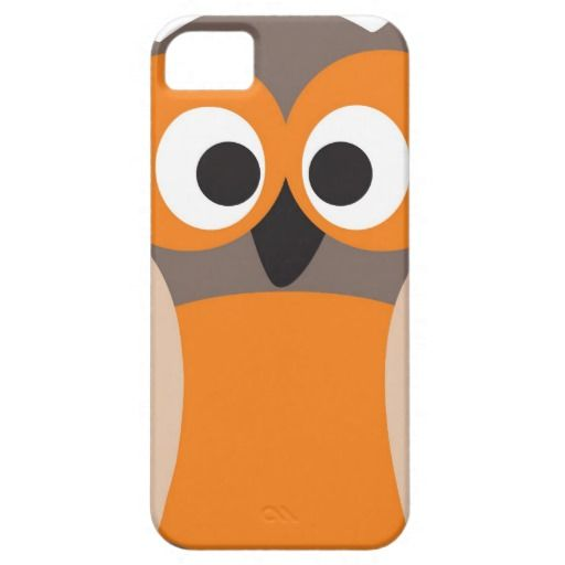 Funny staring owl iPhone 5 case