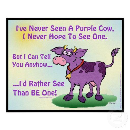 purple cow poem