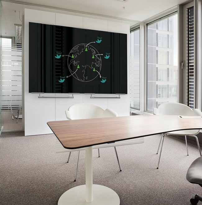 Black Glass Markerboard For The Office Conference Room Or Client Meeting Spaces Best Rite Visionary With E Glass Dry Erase Board White Board Office Whiteboard