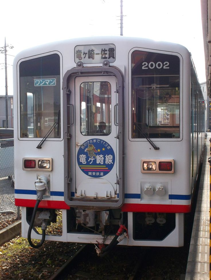 Kanto Railway Ryugasaki Line Ki-Ha 2002 type diesel train.