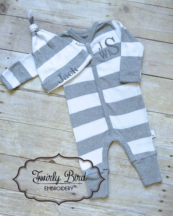 Going Home Outfit Boy - for Newborns and up to 9 months sizing. Your precious little one can snuggle up in this Organic Cotton Coverall and Hat