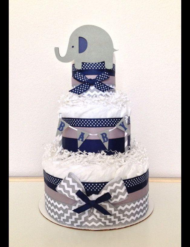 Windeltorten - Windeltorte Happy Animal - ein Designerstück von Schluckauf-Diaper-Cake bei DaWanda