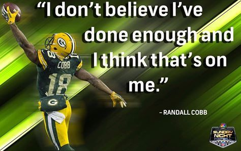 Randall Cobb's humility is amazing!