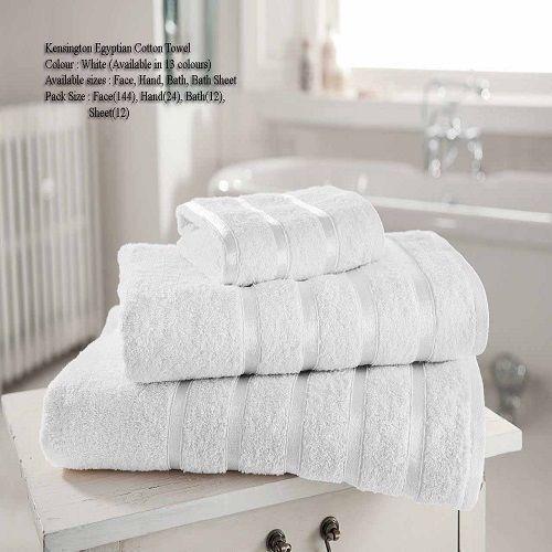 Kensington Egyptian Hand Towel Bath Towel & Bath Sheets | White – Linens Range