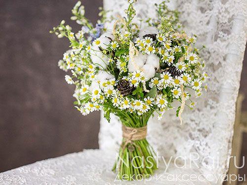 Фото. Букет невесты из ромашек.