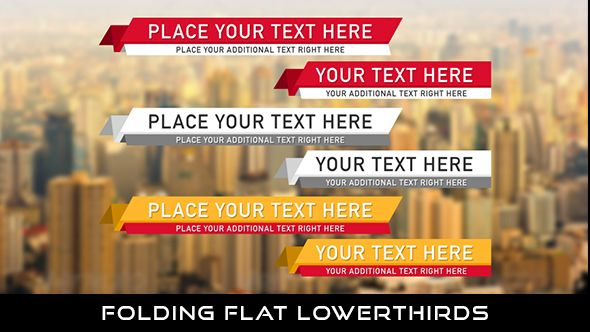 Folding Flat Lowerthird  6 Lowerthirds | Full HD 1920×1080 | Quicktime PNG alpha codec | Each 10 seconds.  #envato #videohive #motiongraphic #aftereffects #animatedlowerthird #broadcast #caption #color #corporate #elegant #flat #modern #presentation #professional #simple #television #text #title #youtube