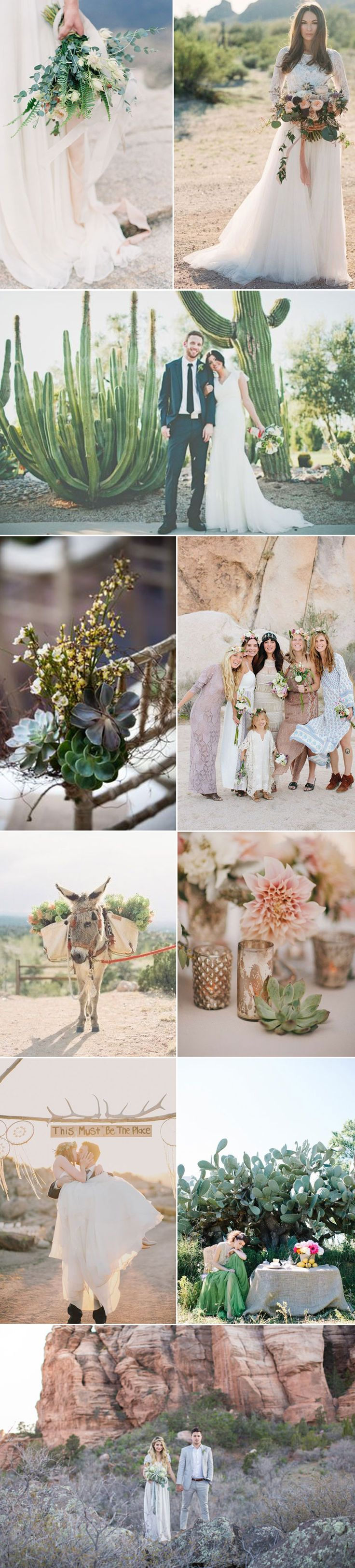Desert boho chic wedding inspiration! How cute are all of these ideas?!