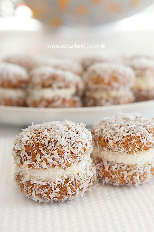 Baci di dama al cocco e amaretti - Amaretti and coconut cookies