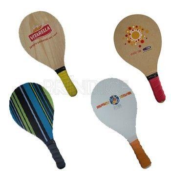 Frescobol, Jogo de Frescobol com 2 raquetes e 1 bola de borracha, opção de madeira MDF ou Pinus personalizado 1 ou 4 cores., FRESCBOL - SP/SÃO PAULO - Brindes Personalizados