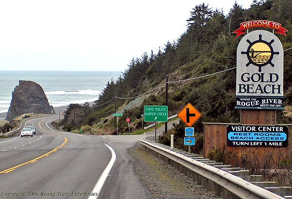Gold Beach, Oregon ~ I lived there for a few years and loved it. Ocean, lush Forest, the Rogue River, tons of wild life and fresh air.