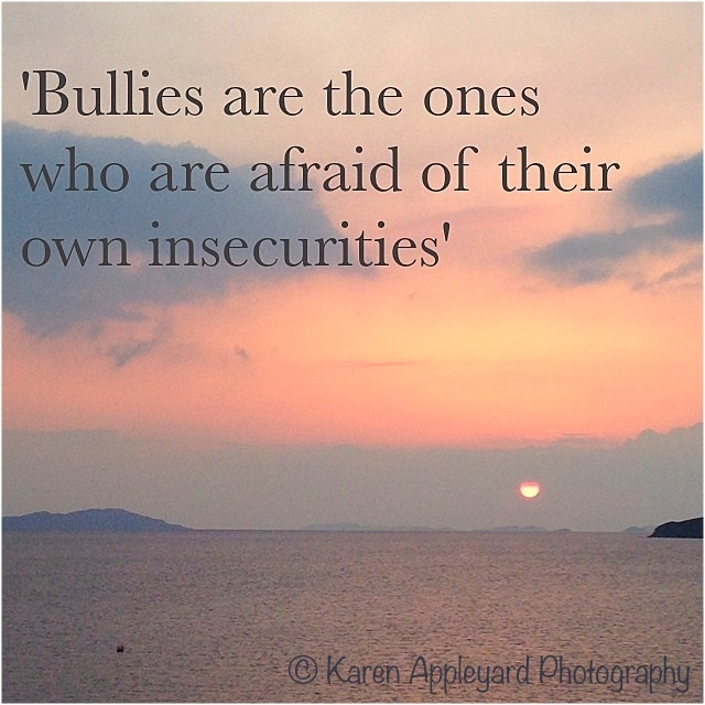 outlook on bullying i have a Workplace bullying:  identified 18 other bullying behaviors that have been exhibited in  is the victim's disposition or outlook on life.