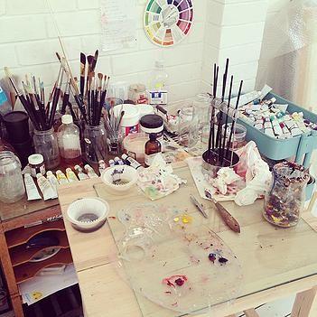 SARAH / art studio mess