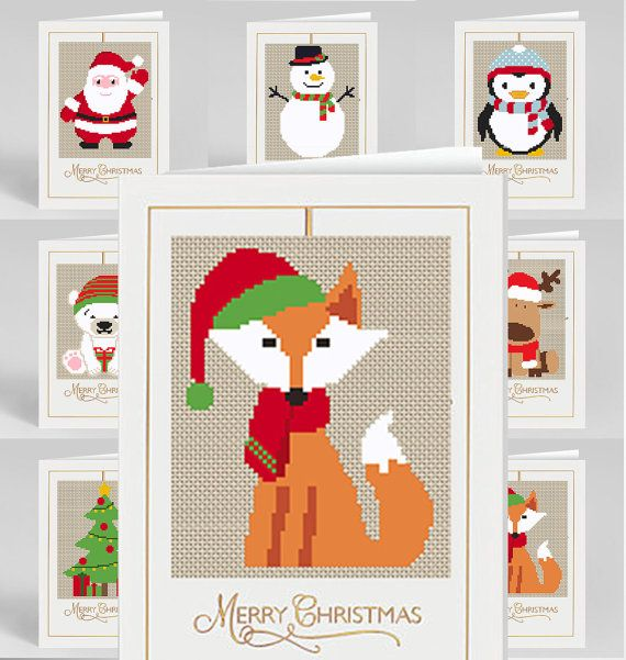 Christmas Cross Stitch Pattern 7 in 1 Merry by NikkiPattern