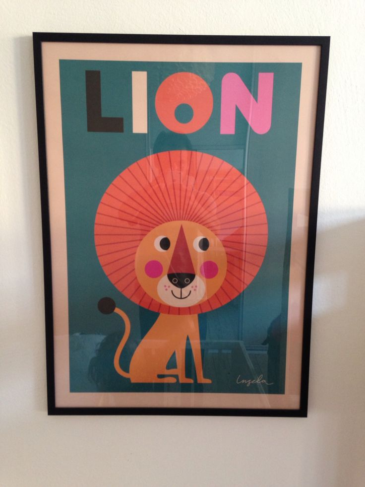 Lion poster childrens room