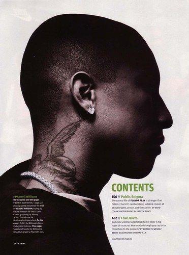 Pinterest the world s catalog of ideas for Pharrell neck tattoo