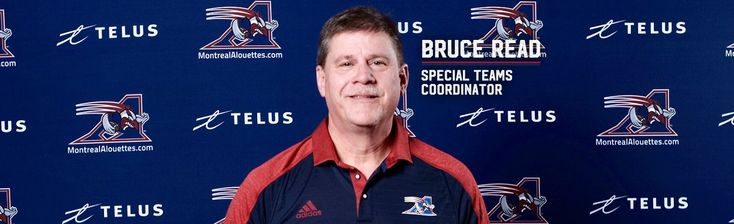 Mar.17 2017 - The Montreal Alouettes announced on Friday that Bruce Read has been named the club's Special Teams Coordinator for this upcoming season.